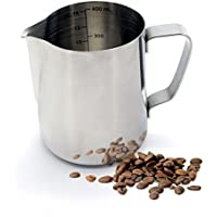 Warmoor Stainless Steel 14 Ounce Milk Frothing Pitcher, Professional Latte Milk Steaming pitcher for Espresso Machines & Latte Art
