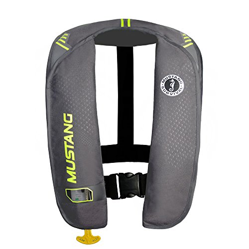 Mustang Survival Corp M.I.T. 100 Manual Activation PFD, Gray/Fluorescent Yellow Green