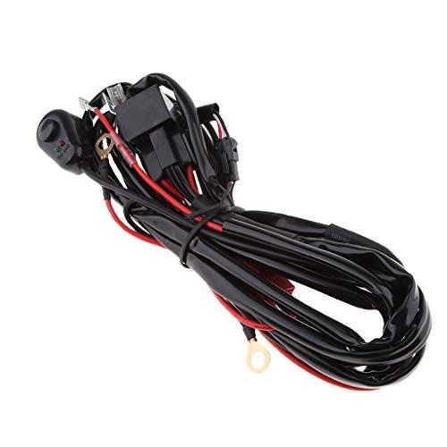 KESOTO LED Light Bar Heavy Duty Wiring Harness Wiring Harness w/Switch for Waterproof Relay Splitter: