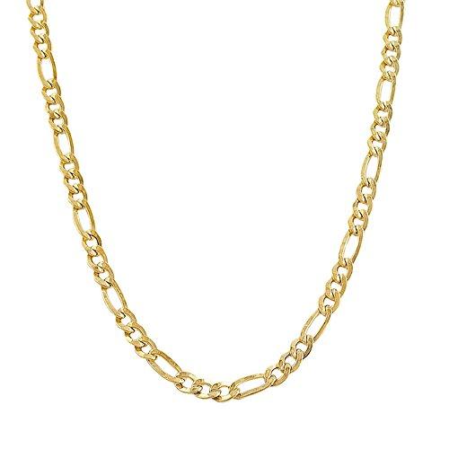 (14k Yellow Gold Figaro 060 2.50MM 10