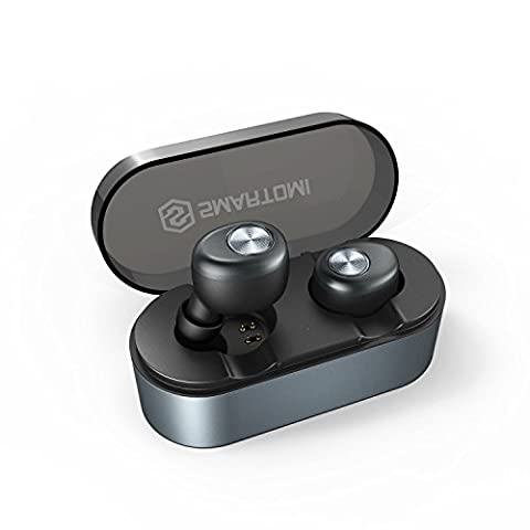 Mini Wireless Earphones SMARTOMI ACE with Portable Charging Case 500mAh, True Wireless Earbuds with Mic, Bluetooth Headphones Cordless Headset Earphones Compatible with iPhone iPad Android - Bluetooth Headset Compatible