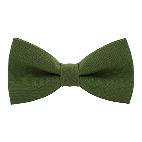 Asparagus Tall (Classic Pre-Tied Bow Tie Formal Solid Tuxedo, by Bow Tie House (Small, Asparagus))