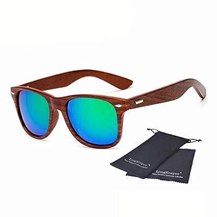 Amazon.com: Oval Sunglasses for Women Men Wooden Legs Sun ...