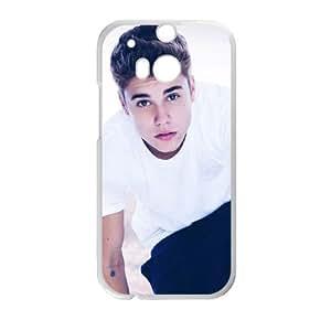 HTC One M8 Cell Phone Case White Justin Bieber NBI Phone Case Protective Custom