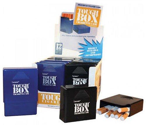 12 Pack Laramie Tough Box Crush-Proof Plastic Cigarette Case King & 100s