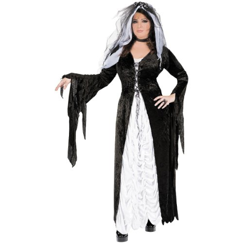 Coffin Bride Costume Plus (Bride of Darkness Costume - Plus Size 1X/2X - Dress Size 16-22)