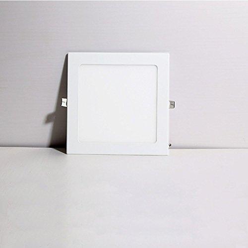 Lampe Plafond Carré Liqoo Panneau 18w Led Plat De Ultra Plafonnier lJcF1K