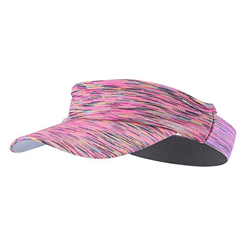 TEFITI Sports Fitness Sun Visor Moisture Wicking Headgear Cap Hats for Golf, Tennis, Cycling, Running (Pink)