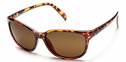 Suncloud Flutter Polarized Sunglasses, Tortoise Frame, Brown - Polarized Suncloud Sunglasses