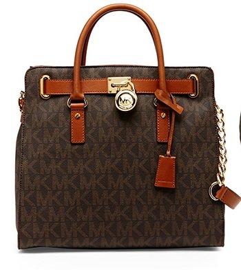 Michael Kors Hamilton Traveler Brown Large Tote Bag (35F6...