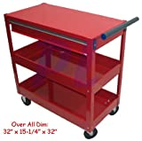 3 Trays Mig Tig Welding Service Cart with 1 Drawer