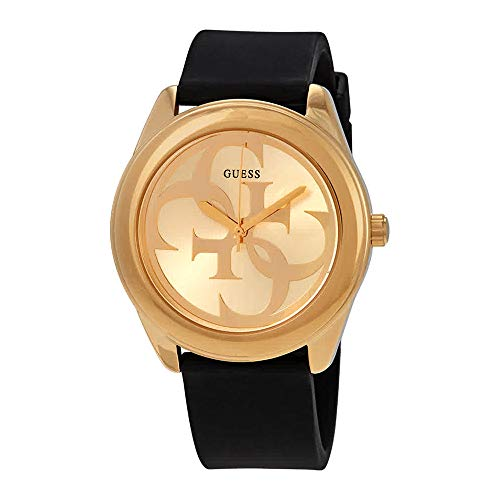 Guess G Twist Gold Dial Silicone Strap Ladies Watch W0911L3