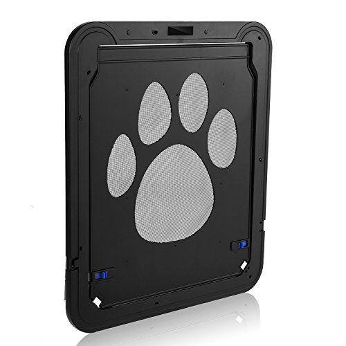 Homdox Automatic Pet Screen Door Dog Window Screen Lockable Cat Flap- 13.7 x 17.7 x 0.5inch