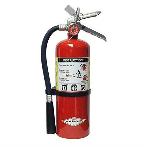 Amerex B500, 5lb ABC Dry Chemical Class A B C Fire Extinguisher (Best Extinguisher For Gas Fire)