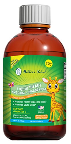 fant Liquid Calcium and Magnesium, Highly Absorbable, Natural Citrus Orange Flavor, Kid's Formula for Healthy Bone Growth and Development, Infants and Children, Fluid 16-Ounces (Kids Nerve Support Formula)