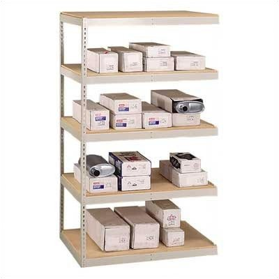 Double Rivet Units - Penco 46W39HP Add-On Unit Double Rivet Shelving with Center Support, 4 Shelf, 92