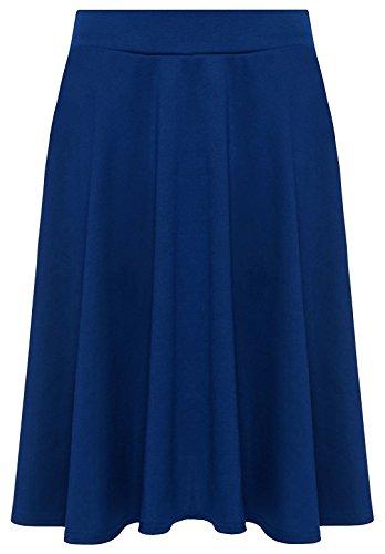 mini uni sarcelle 56 vas Grande Jupes 42 Femmes Tailles taille WearAll bleu jupe OCxSBwqxA