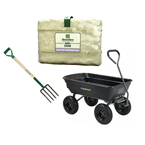 STANDLEE HAY COMPANY Cer Straw Bale, 50 lb (Bale Bundle w/ Fork & Cart) (Hay Cart)