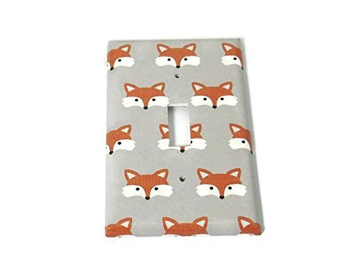 1 Gang Light Switch Plate Little Fox (275S) (Light One Woodlands)