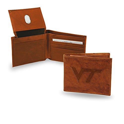NCAA Virginia Tech Hokies Embossed Leather Billfold Wallet