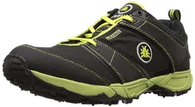 Icebug Men's Pytho2 BU Grip Trail Running Shoe,Black/Poison,11.5 M US
