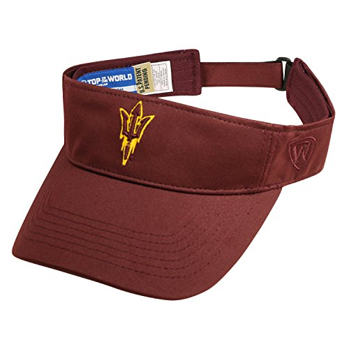 Arizona State Sun Devils Visor - Top of the World Arizona State Sun Devils Hawkeye Visor Hat - NCAA ASU Adjustable Golf Cap