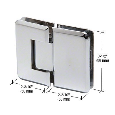 180 Series Chrome Glass (CRL Chrome Pinnacle 180 Series 180 Degree Glass-to-Glass Standard Hinge by CR Laurence)