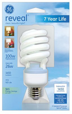Ge Energy Smart Compact Fluorescent Spiral Light Bulb, Spiral