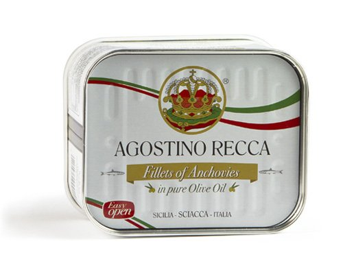 Agostino Recca - Fillets of Anchovies in Pure Olive Oil, (1)- 25 oz. Tin