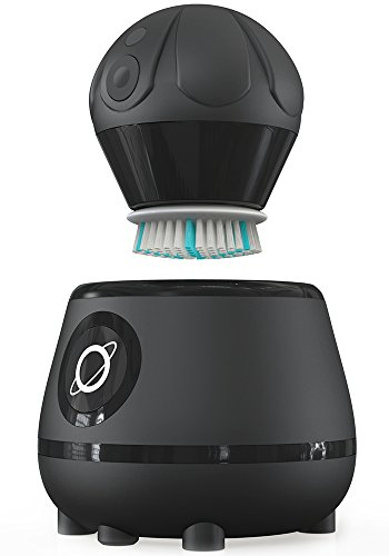 TAO Clean Orbital Facial Brush and Cleansing Station - Deep Space Black - Electric Face Cleansing Brush with Patented Docking Technology, Ergonomic Handle, Dual Speed Settings
