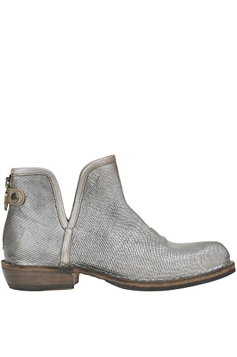 FIORENTINI-BAKER Women's MCGLCAS04192I Silver Leather Ankle Boots VBK0hXBs