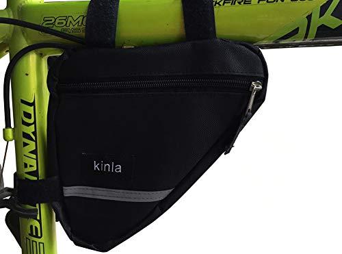 kinla Triangle Bike Bag,Road Mountain Bicycle Bike Frame Bag with Reflective Trim