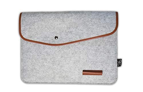 Valier Laptop Sleeve - Protective Case for 12.3 Inch Google Pixelbook - Perfect for Your Laptop and Accessories - Features 2 Pen Clips, 4 Pockets for Laptop, Notebook, Wallet, Phone. (Gray)
