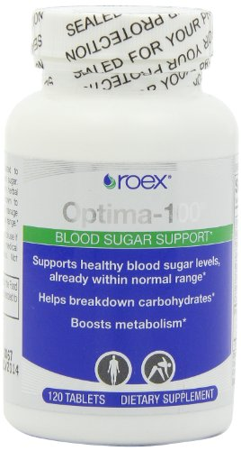 Roex Optima-100 The Sugar Solution Dietary Supplements, 120 Count