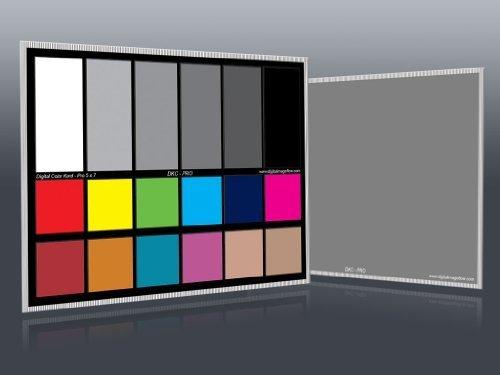 DGK Color herramientas DKC-pro 12,7 cm x 17,78 cm Juego de 2 sobrevuela equilibrio y cartas de calibración de Color con 12%...