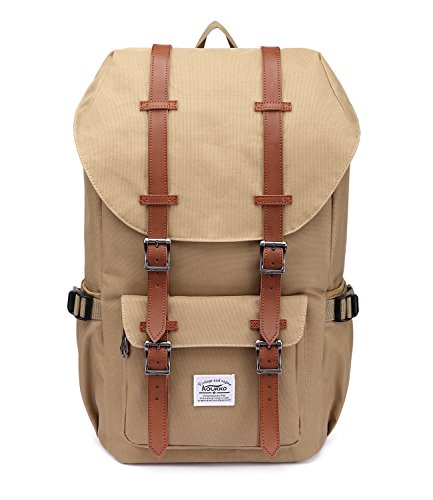 Travel Outdoor Computer Backpack Laptop bag small(khaki) - 1