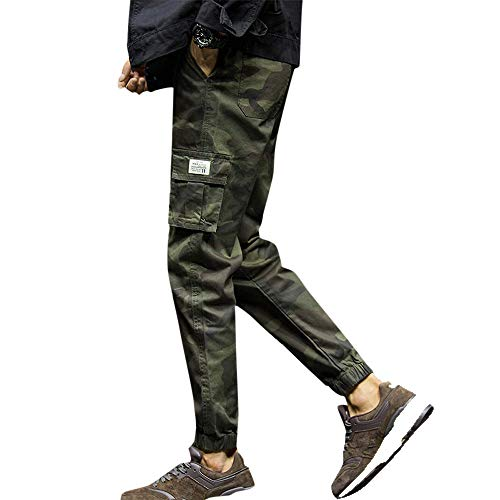 Work Pants for Men,Mens Fashion Camouflage Pocket Nine Point
