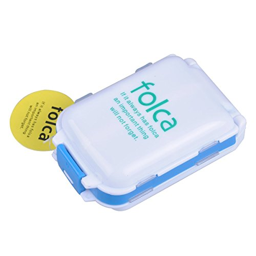 UPC 746856454351, UCEC Weekly 7 Day Travel Pill Box Case and Vitamin Organizer Tablet Pill Sorter Organizer Plastic Medicine Box Holder Container 8 Pill Compartment Box (White)