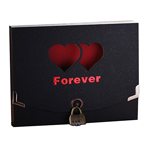 DIY Photo Album Love Shape Anniversary Gift Scrapbook by East Majik