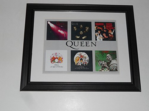 Framed Queen Album Art 1973-1977 Night Opera, News, Day Races, Sheer 14