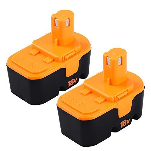 18V 3.6AH for Ryobi Battery Replacement Ryobi ONE+ P100 P107 P108 P122 P104 P105 P102 P103 2-Packs GERIT BATT (Oneplus One Battery Pack)