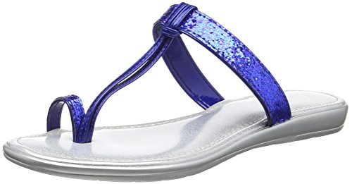 Lotus WoMen Candida T-Bar Sandals Blue (Blue/Glitter)