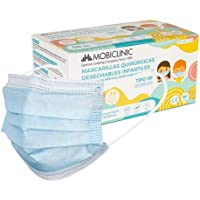 Mascarillas Quirúrgicas Infantiles IIR, 50 uds, Mobiclinic, Marca Española, Mascarillas médicas homologadas, 3 capas…