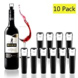 Vacuum Wine Bottle Stoppers,Reusable Wine Bottle Corks,Wine Pump Beverage Bottle Stopper for Champagne and Wine Saver (10 pack)