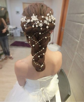 (usongs Bridal hair bridal headdress head flower hairpin ancient theatrical makeup elegant hair accessories hairpin hair style sweet lady)