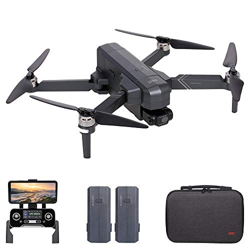 Hometool SJRC F11 4K PRO RC Drone with Camera 4K 2-axis Gimbal Brushless Motor 5G Wifi FPV GPS Quadcopter Point of Interest Waypoint Flight 1500m Control Distance 26mins with Storage Bag 2 Battery