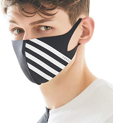 LOOKA MASK Protective Fashion Air Mask | Washable and Reusable | Double Layered Face Mask | W4 Black