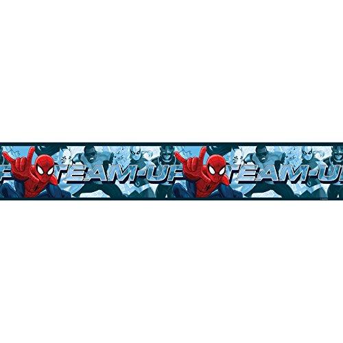 (Spiderman Team Up Self Adhesive Wallpaper Border 5m)