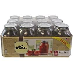 Kerr 1 Qt. (32 oz) Regular Mouth Canning Jars Set of 12
