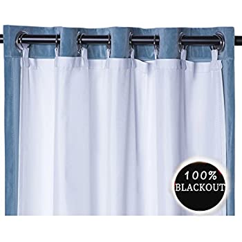 Rose Home Fashion RHF Thermal Insulated Blackout Curtain Liner Panel Ring Included